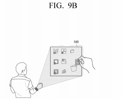 Samsung-virtual-UI-for-wearables-patent10