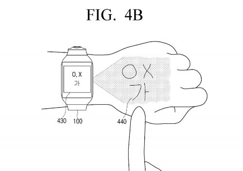 Samsung-virtual-UI-for-wearables-patent4