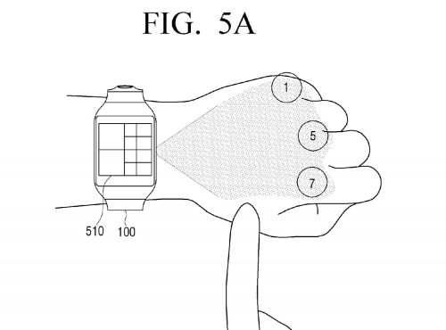 Samsung-virtual-UI-for-wearables-patent6