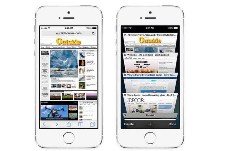 Smart phone-Safari browser